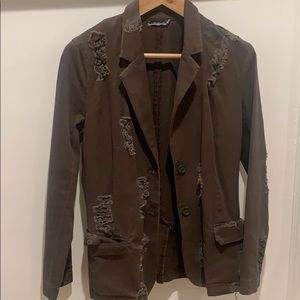 Brown Distressed Blazer